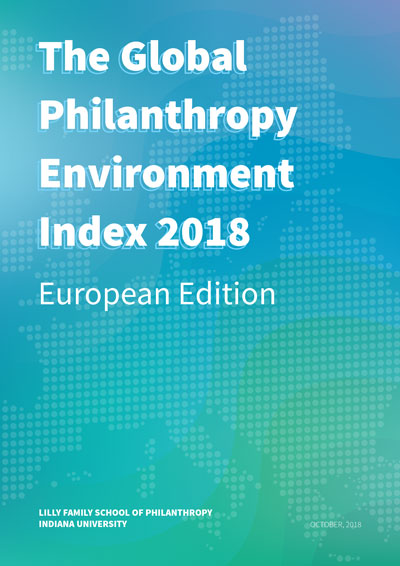 Global Philanthropy Environment Index 2018 - Europe report cover